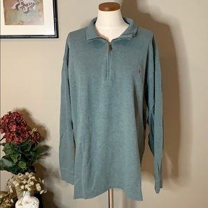 Polo by Ralph Lauren 1/4 Zip Estate Rib Sweater
